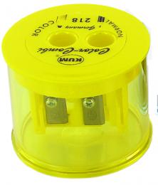 Apontador Duplo com Reservatório Ref.218T Amarelo