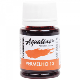 AQUALINE AQUARELA  LIQ. VERMELHO 13 (37 ML) UN