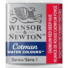 Aquarela Cotman W&N Cadmium Red Deep Hue Half 098