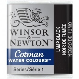 Aquarela Cotman W&N Lamp Black Half Pan 337