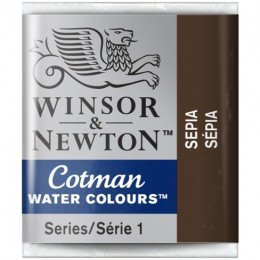 Aquarela Cotman W&N Sepia Half Pan 609
