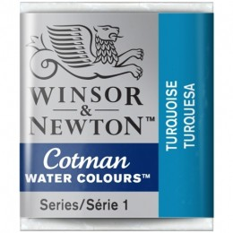 Aquarela Cotman W&N Turquoise Half Pan 654
