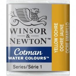 Aquarela Cotman W&N Yellow Ochre Half Pan 744