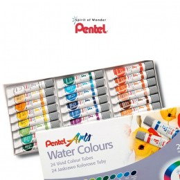 Aquarela Pentel Arts Water Colors com 24C WFRS-24