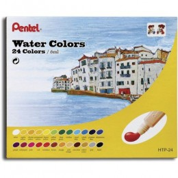 Aquarela Pentel Water Colors com 24c HTP-24
