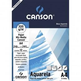 BLOCO AQUARELA A4.300g.12F.CANSON