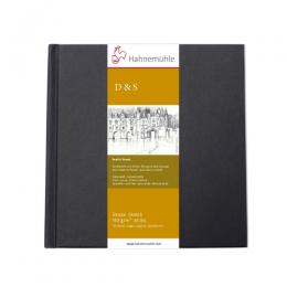 D&S SKETCH BOOK 140g CP PRETO TAM 14x14 10628225