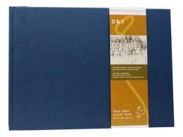 D&S SKETCH BOOK 140g CP AZUL A4 PAISAGEM 10628283