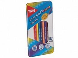 Estojo metálico de Lápis de Cor Tris Mega Soft