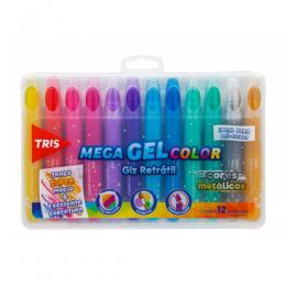 Giz Retratil Tris Mega Gel Color Metálico 12 cores