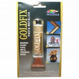 GOLD FIX - PASTA METALICA 20 ML -OURO VELHO