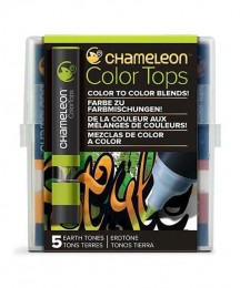 KIT 5 COLOR TOPS CHAMELEON - TONS TERROSOS