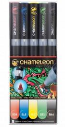 KIT CHAMELEON 5 CANETAS CORES PRIMARIAS CT0502