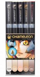 KIT CHAMELEON 5 CANETAS TONS DE PELE CT0510