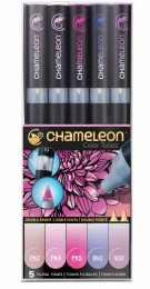KIT CHAMELEON 5 CANETAS TONS FLORAIS CT0512