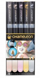 KIT CHAMELEON 5 CANETAS TONS PASTEL CT0501
