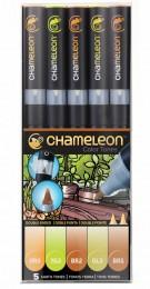 KIT CHAMELEON 5 CANETAS TONS TERROSOS CT0503