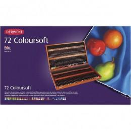 Lápis 72 Cores Estojo de Madeira Linha Coloursoft