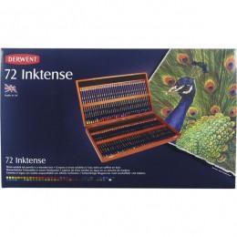 Lapis 72 cores Linha Inktense estojo de Madeira