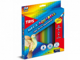 Lápis de Cor Tris Mega Aquarell Color 24 cores
