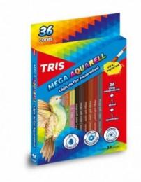 Lápis de Cor Tris Mega Aquarell Color 36 cores