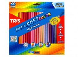 Lápis de Cor Tris Mega Soft Color 60 cores