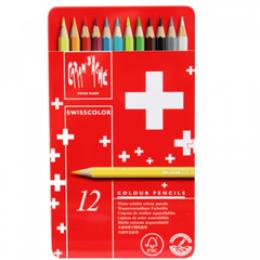 Lápis Swisscolor 12 Cores Carandache