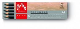 Lápis Technalo Aquarelável mina 3,0mm 6 und