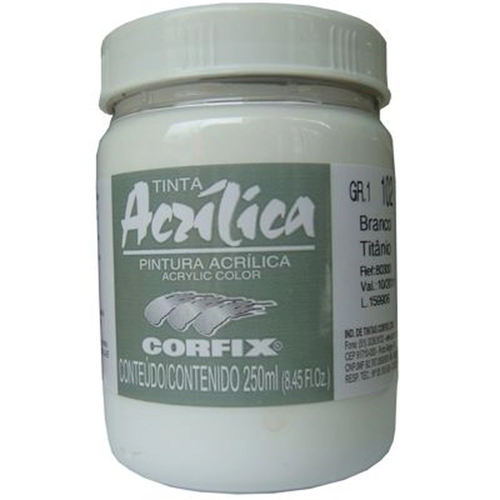 ACRILICA ARTS BRIL 250ML GR 1 102 BRANCO CORFIX