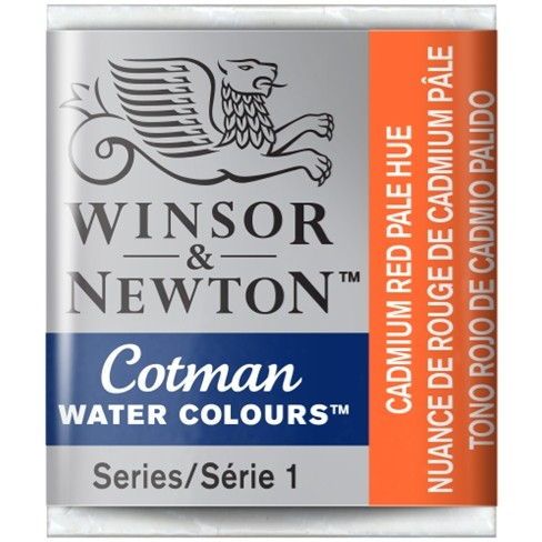Aquarela Cotman W&N Cadmium Red Pale Hue Half 103