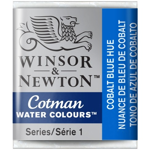Aquarela Cotman W&N Cobalt Blue Hue Half Pan 179