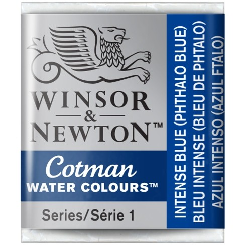Aquarela Cotman W&N Intense Blue Half Pan 327