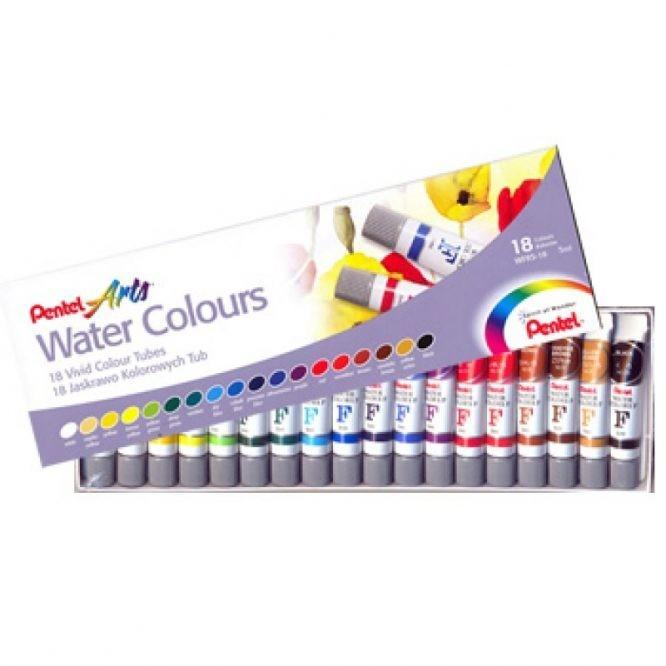 Aquarela Pentel Arts Water Colors com 18c WFRS-18