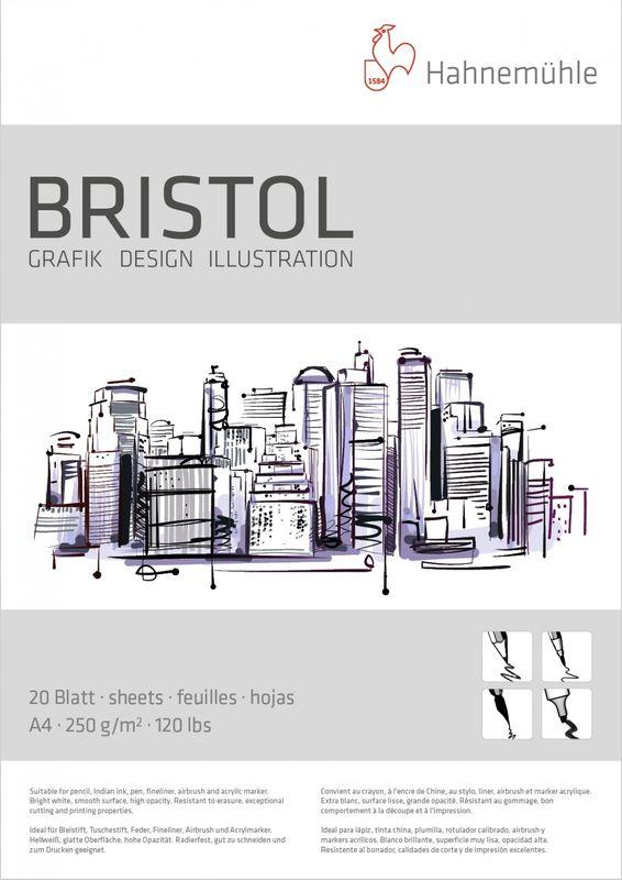 Bloco Bristol 250g Tam 21x29,7 A4 20 FLS. 10628722