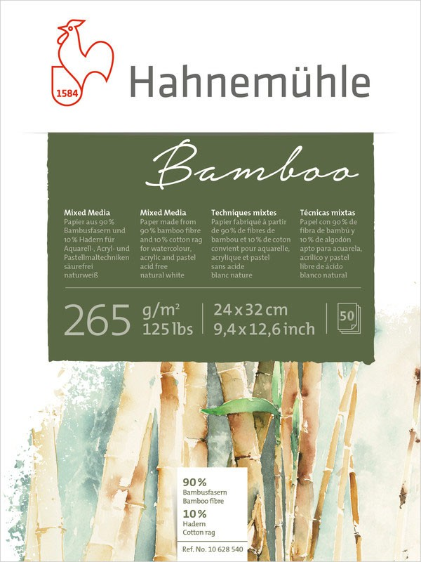 Bloco Hahnemuhle Bamboo 265g 24x32 50fls 10650180