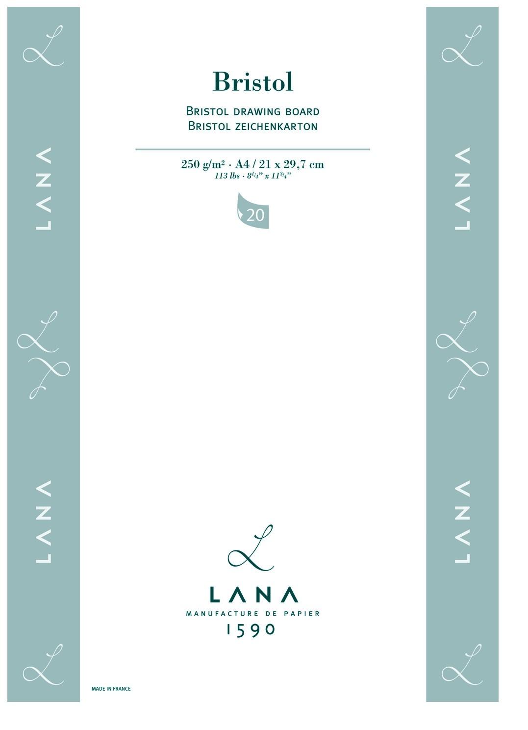 Bloco Lana Bristol 250g 21x29,7 A4 20 FLS 15023575