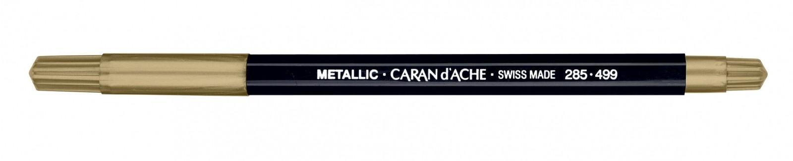 CANETA CARAN dACHE FANCOLOR METALICA OURO