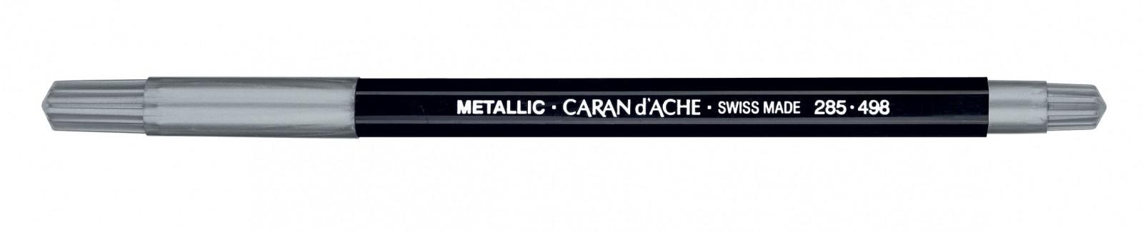 CANETA CARAN dACHE FANCOLOR METALICA PRATA