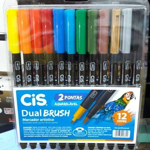 Caneta Dual Brush Cis c/12 cores