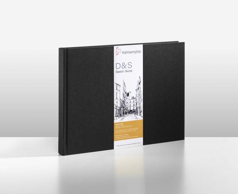 D&S SKETCH BOOK 140g CD PRETO A4 PAISAGEM 10628273