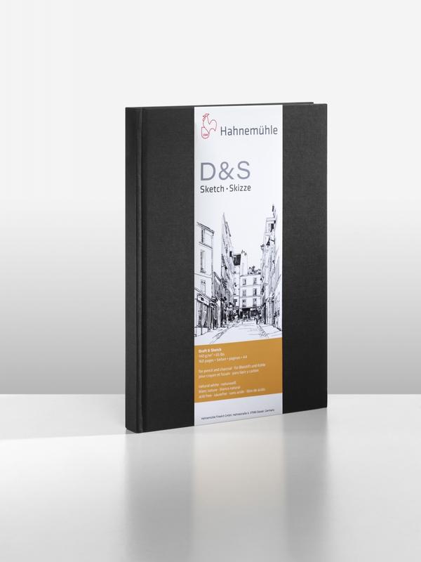 D&S SKETCH BOOK 140g CD PRETO A4 RETRATO 10628272