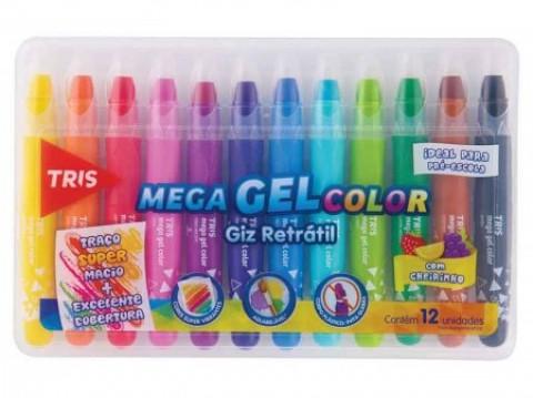 Giz Retratil Tris Mega Gel Color c/cheirinho 12c