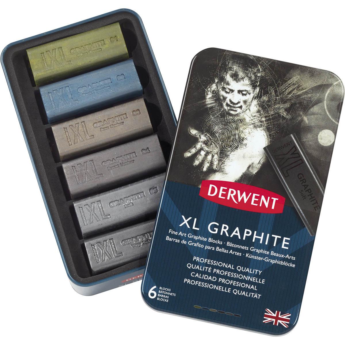 Graphite XL 6 Cores Estojo Lata Derwent