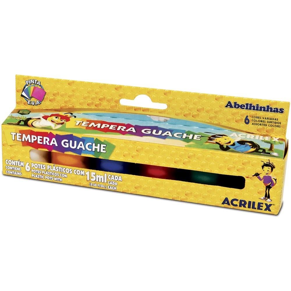 Guache 6 Cores (15ml) Acrilex