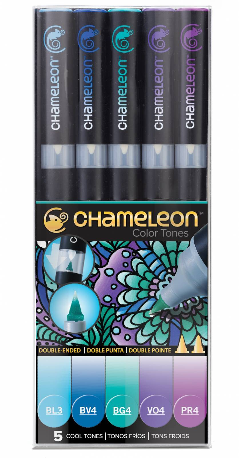 KIT CHAMELEON 5 CANETAS CORES FRIAS CT0504