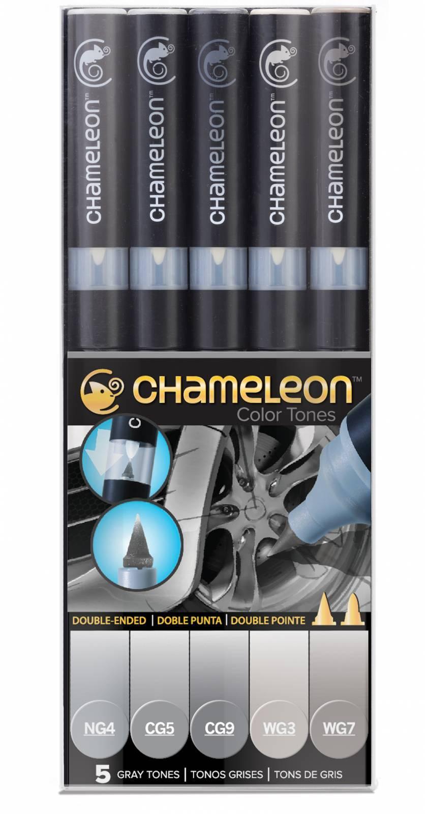 KIT CHAMELEON 5 CANETAS TONS DE CINZA CT0509
