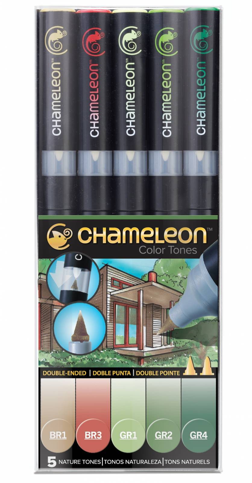 KIT CHAMELEON 5 CANETAS TONS DE NATUREZ CT0514