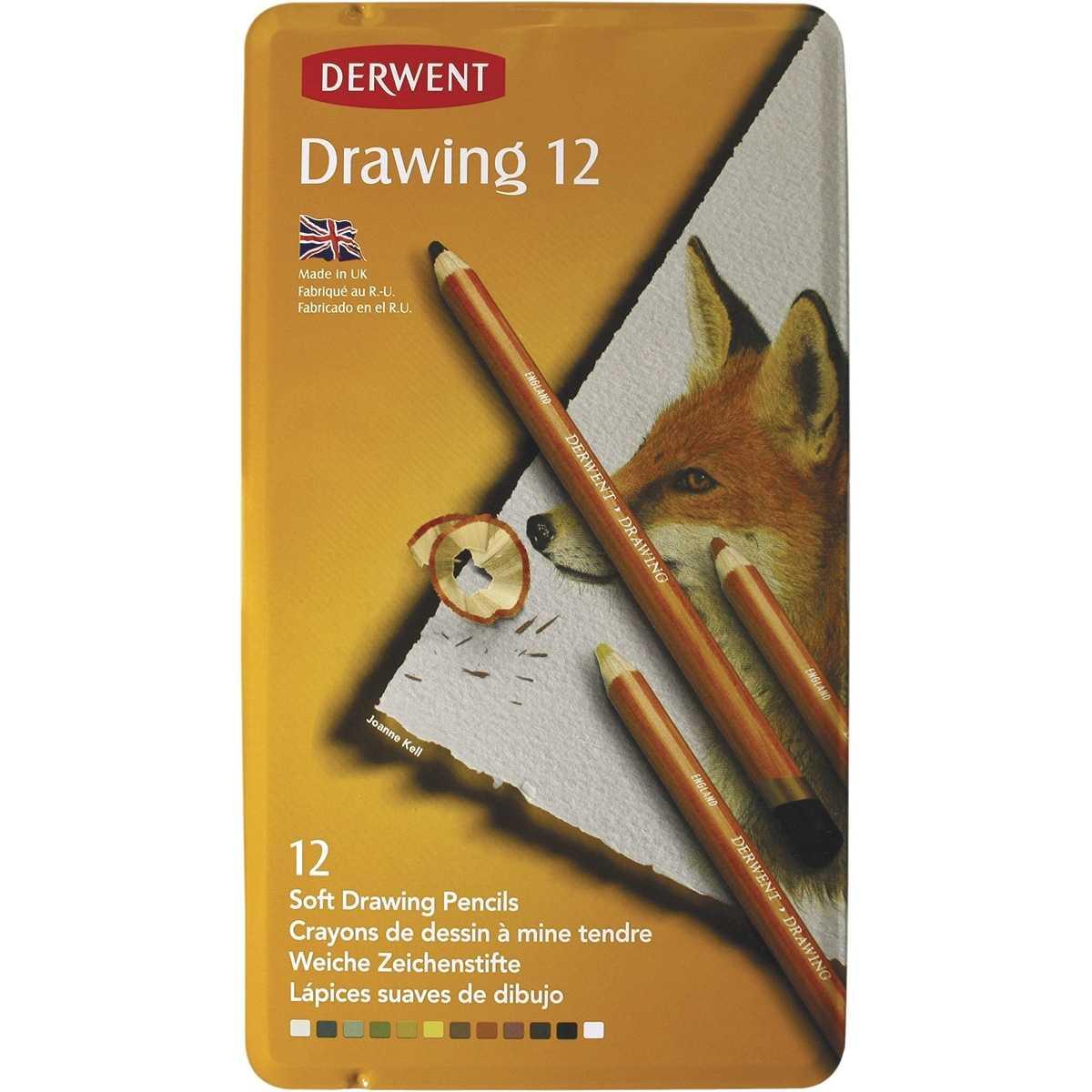 Lapis 12 Cores Linha Drawing