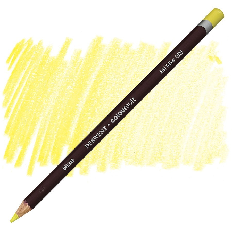 Lápis Coloursoft Derwent Acid Yellow (C020) un.