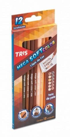 Lápis de Cor Mega Soft Color Tons De Pele